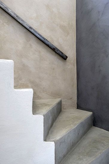 Colored concrete stairs: Design Homes, House Design, Luxury House, Living Rooms Design, Concrete Stairs, Wabi Sabi, Architecture Interiors, Wabisabi, Design Art