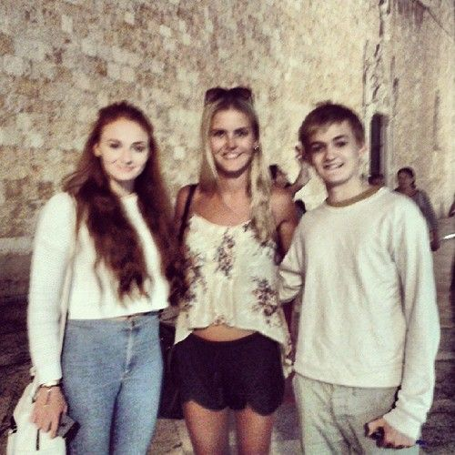 Sophie with Jack Gleeson | The Lovely Sophie Turner ...