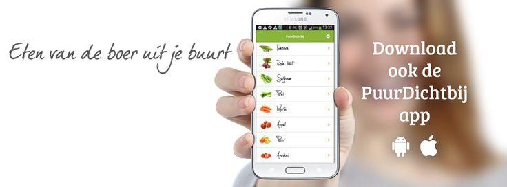 Onze app! Download hem nu: https://itunes.apple.com/nl/app/puurdichtbij/id875253907?mt=8&ign-mpt=uo%3D4 Of bestel online via: http://puurdichtbij.nl/