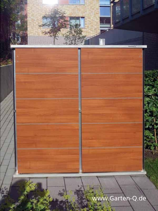 Gartenschrank Mit Holzoptik Holzdekor Aus Hpl Trespa Camping In