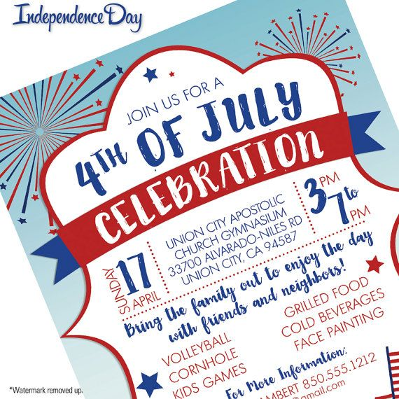 Fourth 4th Of July Invitation: A Collection Of Ideas To