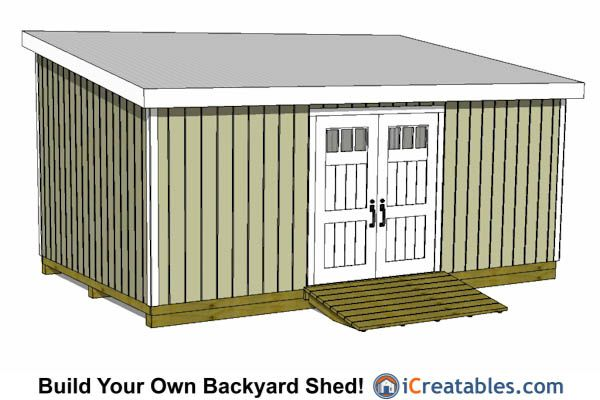 12x20 Lean To Shed Plans 12x20 Shed Plans Pinterest