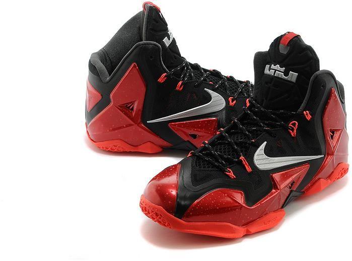Cheap Nike Lebron XI For Sale Printing Black Red
