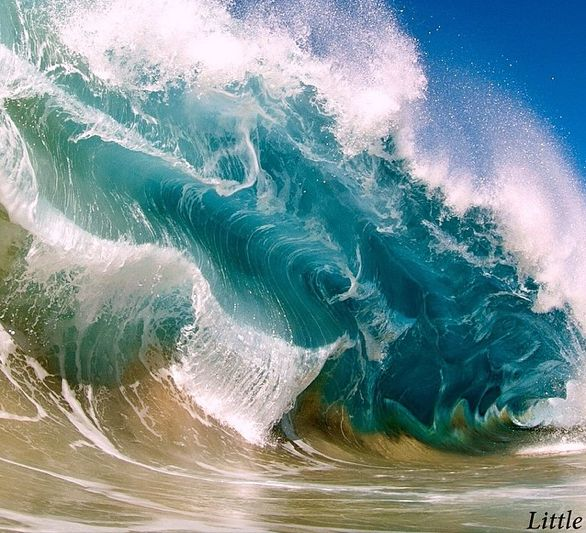 An experienced surfer, Clark Little began taking pictures of waves in 2007, when his wife requested one to hang on their bedroom wall. http://www.clarklittlephotography.com