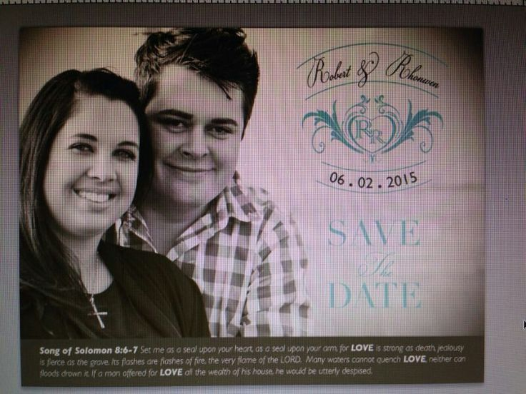 Our save the date emailed