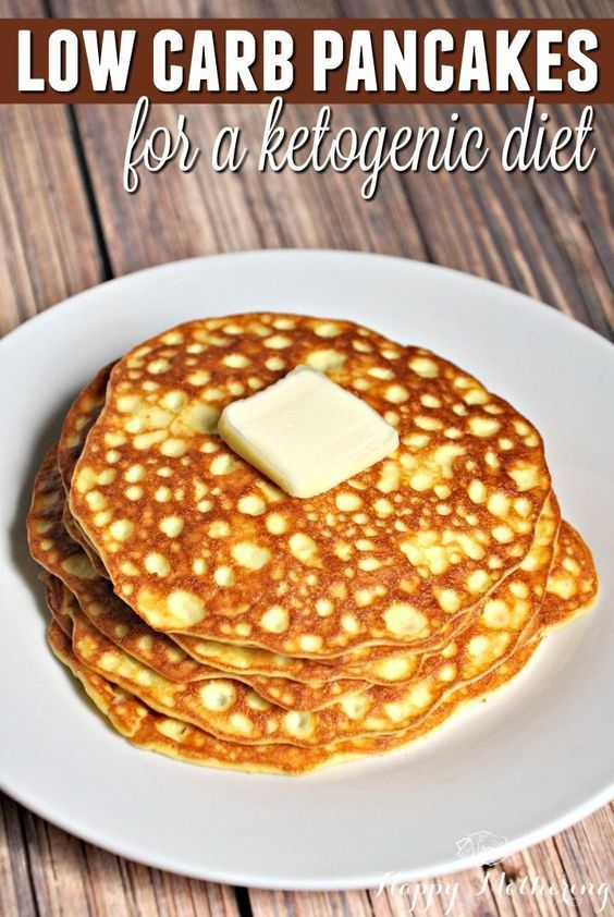 Low Carb Pancakes For The Ketogenic Diet Recipe Low Carb