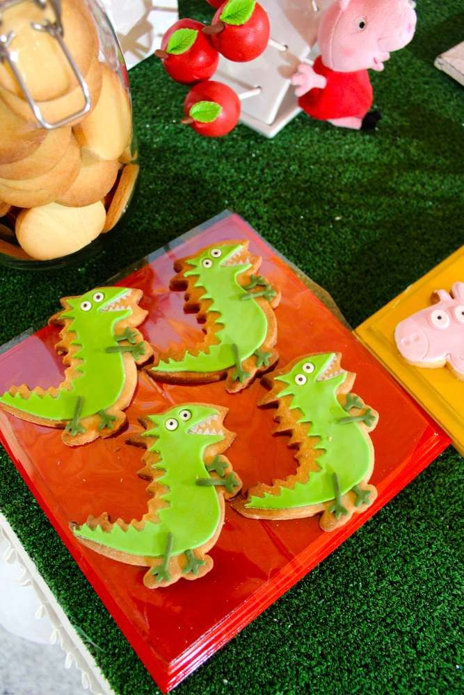 Fun cookies at a Peppa Pig birthday party!  See more party planning ideas at CatchMyParty.com!
