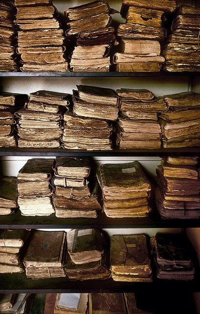 Timbuktu (first known university) Library Collection. Found on Africaland via Facebook