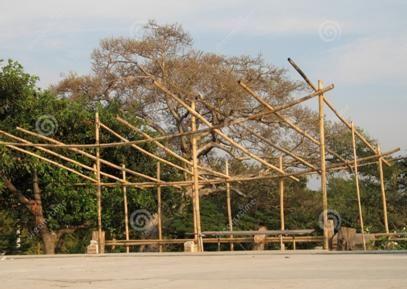Bron: http://nl.dreamstime.com/royalty-vrije-stock-afbeeldingen-de-hut-van-het-bamboe-image403769