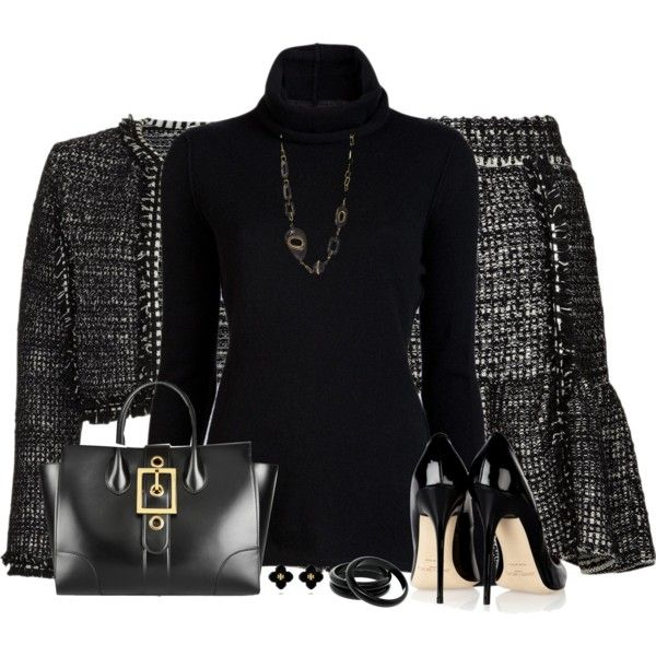 """""""Turtleneck Top & Skirt"""" by daiscat on Polyvore"""