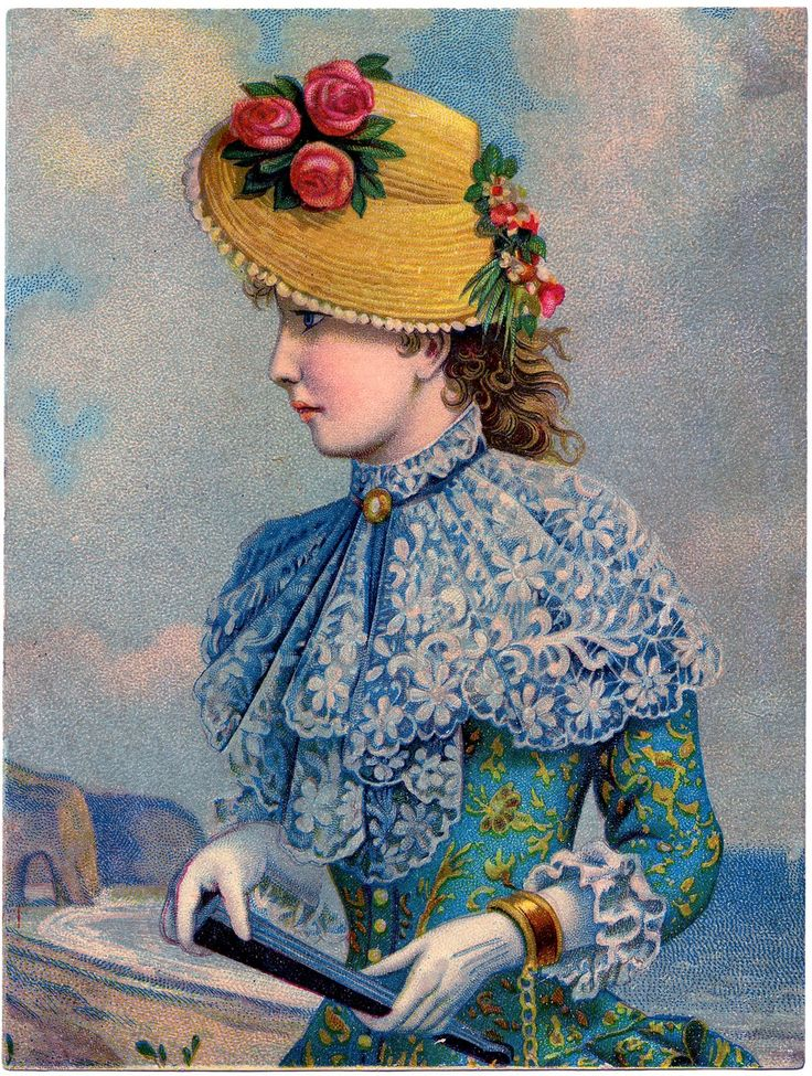 Victorian lady by the seaVintage Graphic, Art, Victorian Lady, Ephemera Lady, Image, Victorian Stuff, Victorian Ladies, Old Postcards, Illustration Vintage
