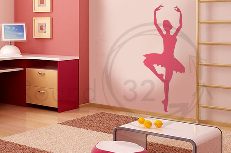 Ballerina Wall Decal - Small - for Girls Bedroom or Playroom - Dance Theme. $30.00, via Etsy.