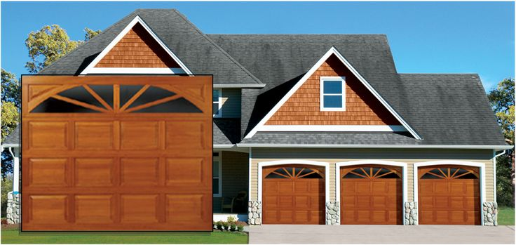 Traditional Wood -   Features flush wood and rail & stile garage door designs providing classic wood door texture and charm.