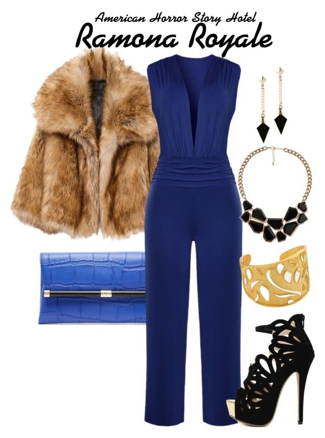 Ahs Hotel by sparkle1277 on Polyvore featuring polyvore, fashion, style, WithChic, Diane Von Furstenberg, Stephanie Kantis, Forever 21, ALDO and clothing