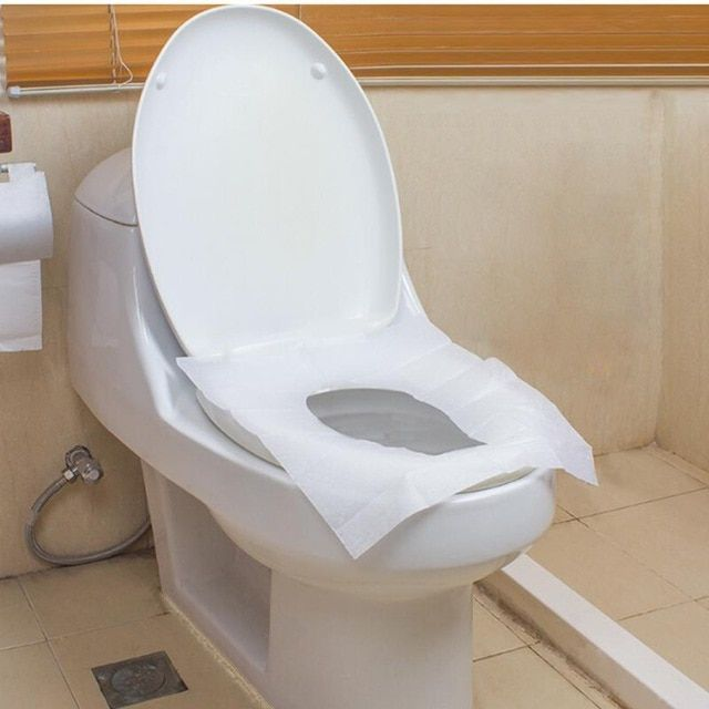 10pcs Travel Outdoor Practical Safe Disposable Paper Toilet Seat