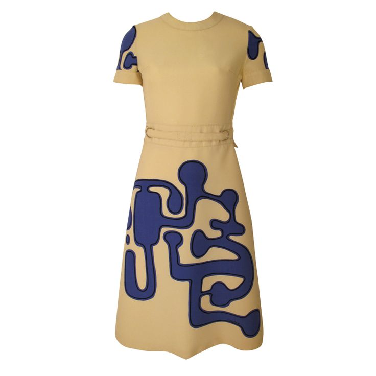 1960s Louis Feraud Wool Geometric Dress   From a collection of rare vintage day dresses at https://www.1stdibs.com/fashion/clothing/day-dresses/
