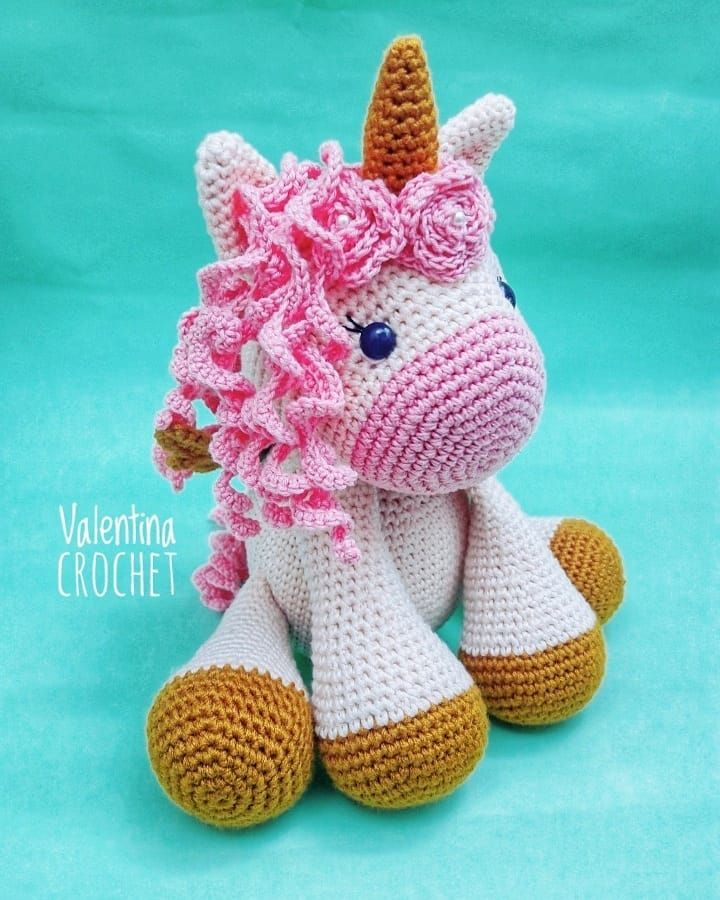 Free Crochet Unicorn Pattern - Red Ted Art - Make crafting with ... | 900x720