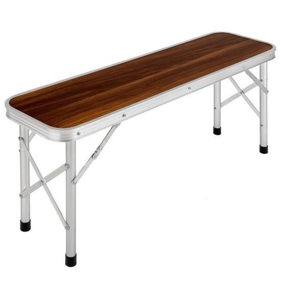 Ensemble table pliante valise 2 bancs camping aluminium bois pique ...
