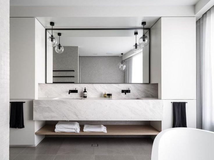 Cool 55 Gorgeous Bathroom Vanity Mirror Design Ideas. More at https://trendecorist.com/2018/02/20/55-gorgeous-bathroom-vanity-mirror-design-ideas/
