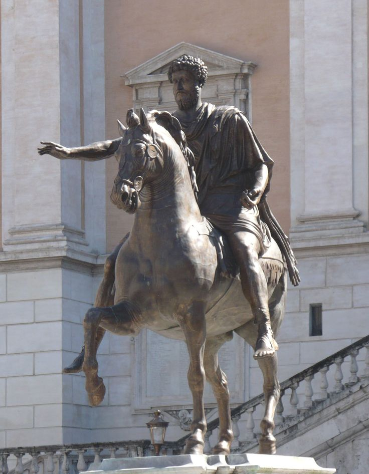 Statua equestre di Marco Aurelio 176 d.C Bronzo Conservato ai musei Capitolini