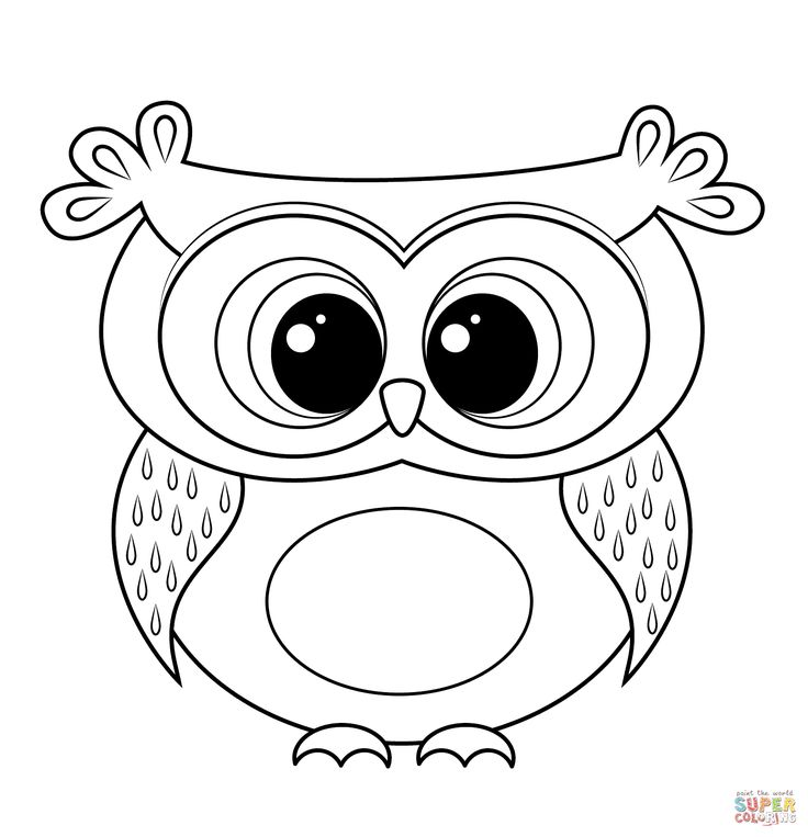 Cartoon Owl Coloring Page From Owls Category Select 25680 Printable Crafts Of Cartoons Nature Animals Bible And Many More