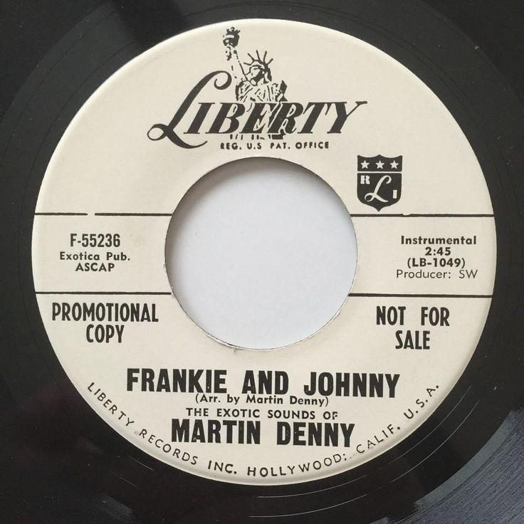 Martin Denny Frankie and Johnny Banana Choo Choo 45 Promo F 55236 1959 Liberty | eBay