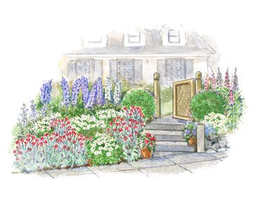 172 best images about garden plan on pinterest for Colorful front yard garden plans