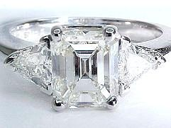 My emerald cut engagement ring from Michael...LOVE!!!