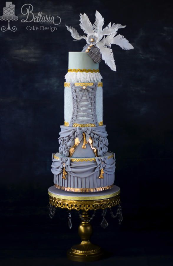 "Wedding cake inspired by ""Barbie"" fashion collaboration by Bellaria Cake Design"