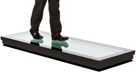 Walk on Glass Rooflights from Crystal Clear