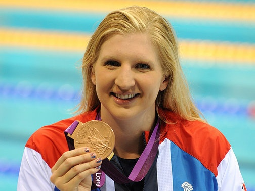 Rebecca Adlington. 400m freestyle. Swimming bronze medal.