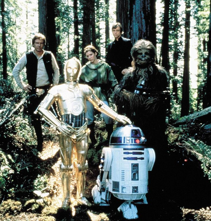 The stayed close: The main cast members in the 1983 film Star Wars: Episode VI - Return Of The Jedi