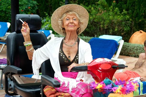 Sheila Reid as Madge in Benidorm