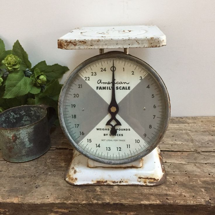 Antique American Family Kitchen White Scale With Glass Mid-Century Industrial Cottage Shabby Chic Farmhouse Vintage Industrial Fixer Upper by PrairieVintageFinds on Etsy https://www.etsy.com/listing/481194938/antique-american-family-kitchen-white