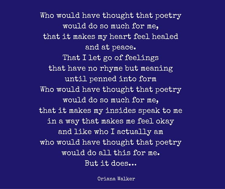 Love of Poetry