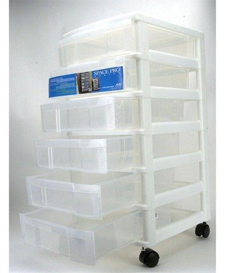 Iris 6 drawer cart iris drawers and organizations for Plastic craft storage drawers