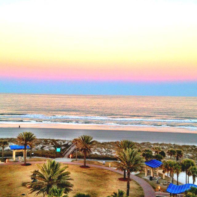 Jacksonville Beach- Beautiful Rainbow Sky