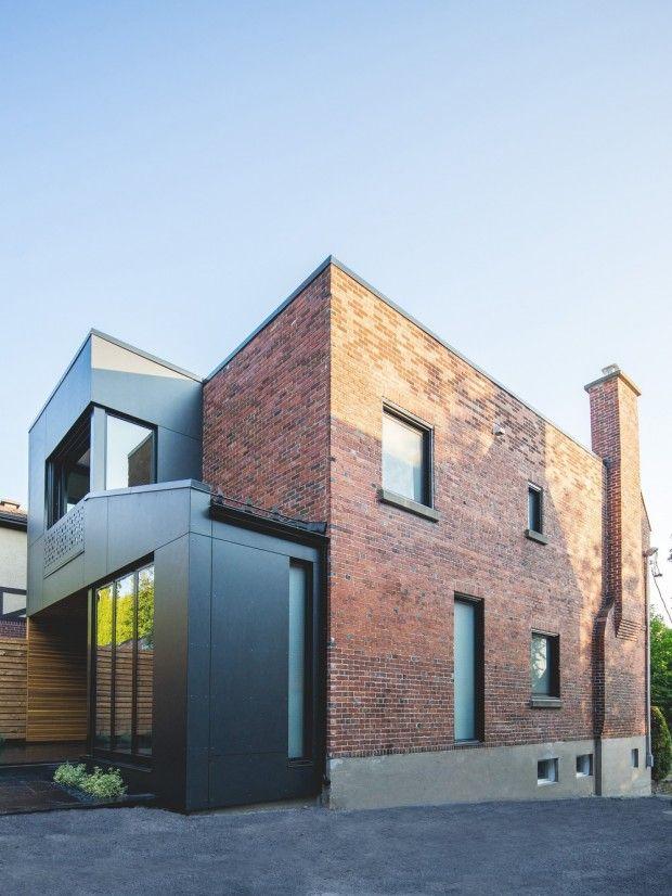 Boite Noire Ii Maison Unifamiliale A Montreal Par Natalie Dionne Architecture Maison Unifamiliale Maison Moderne