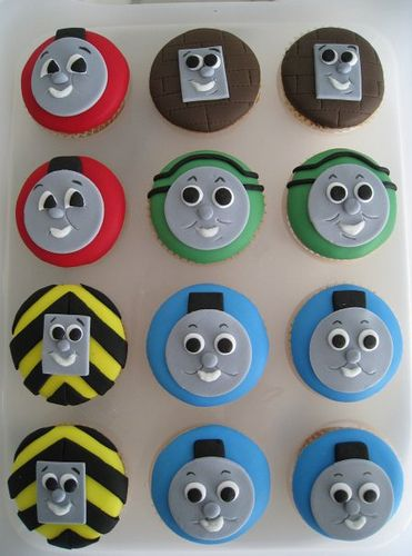 Thomas cupcakes - this one seems more do-able.
