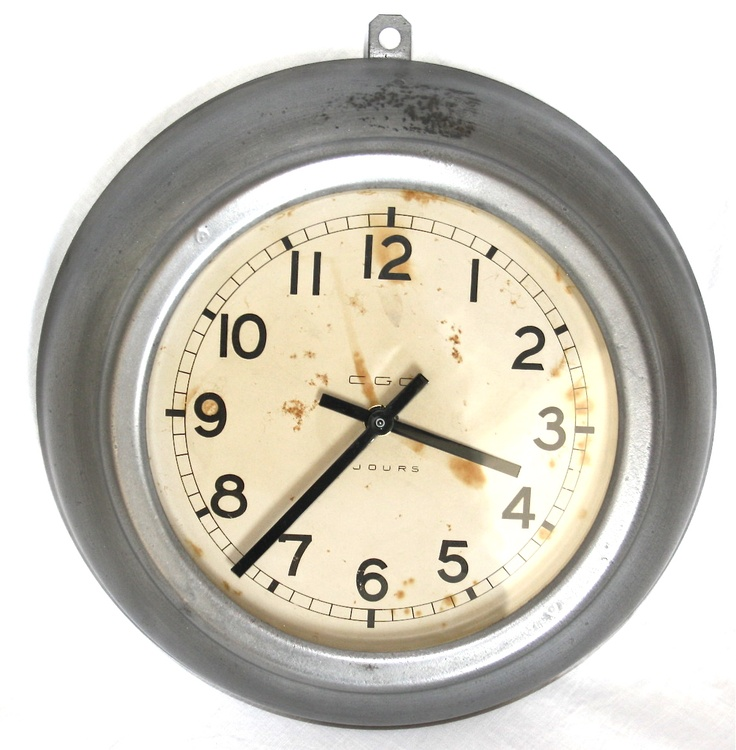 French Industrial wall clock