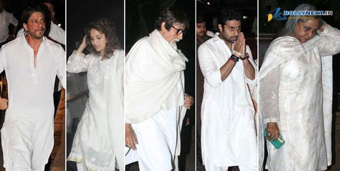 Abhishek Bachchan and Srk at Bobby Chawla Prayer Meet