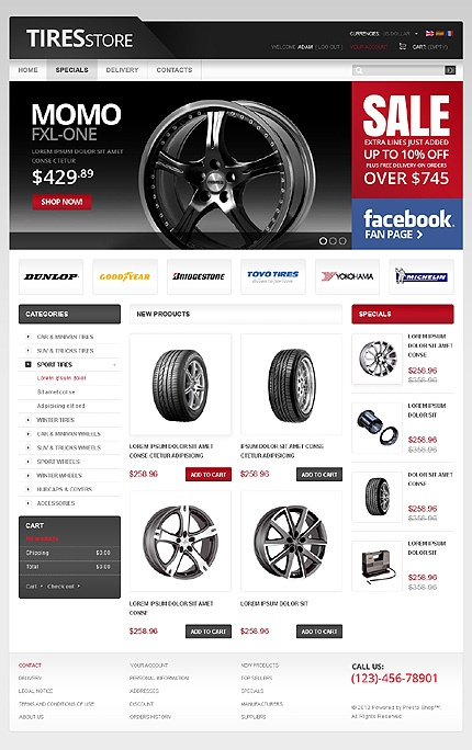 # 38591 http://bit.ly/HvXRT4 | Categorías Relacionadas:Coches | Palabras Clave Relacionadas: shop store shopping cart car parts engine speed tyres on-line automibile valves spares filter gauges styling
