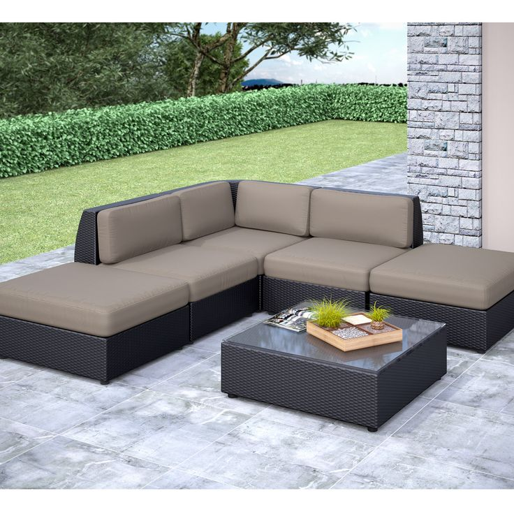 corliving pps 607 z seattle curved 6 piece chaise lounge sectional