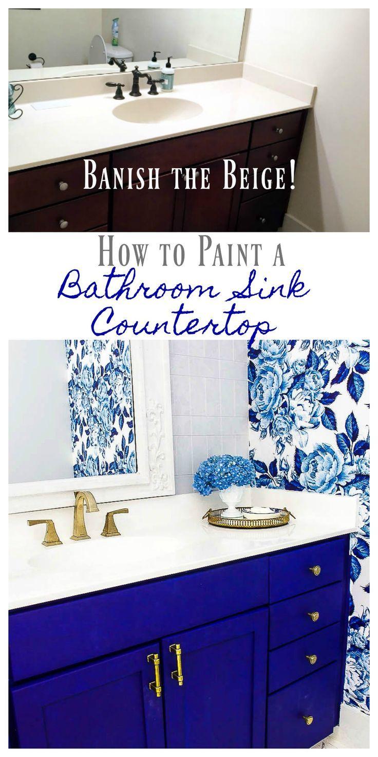 DIY gemalte Badezimmer Countertop und Wanne – #Bad…
