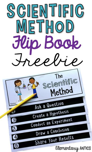 Use this Scientific Method Flip Book FREEBIE to guide your students with ANY experiment!