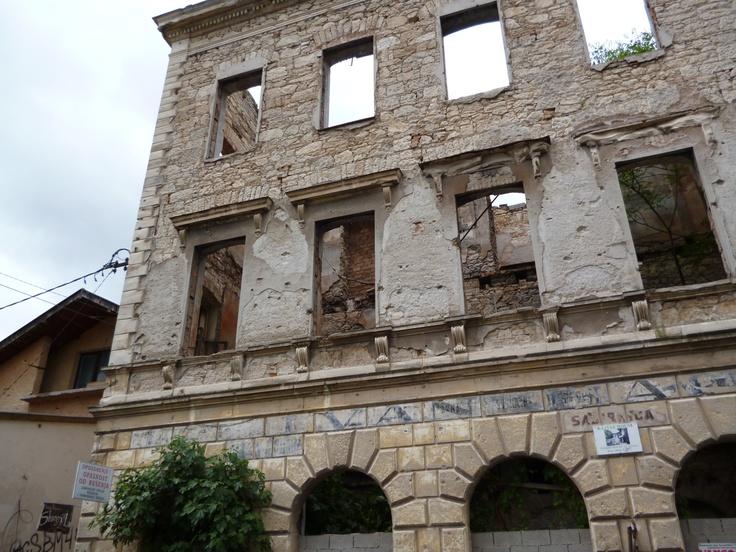 Some more war damage in Mostar.