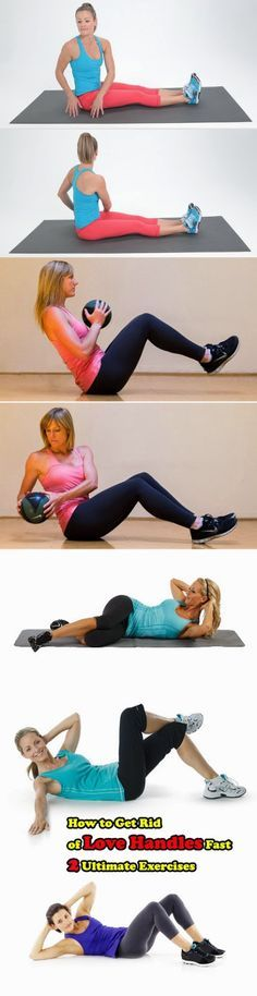 how to get rid love handles fast