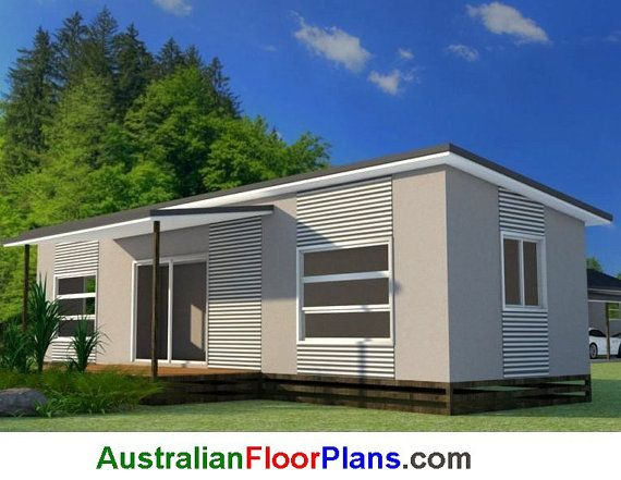 59.9 M2 Transportable 2 Bedroom House By AustralianHousePlans