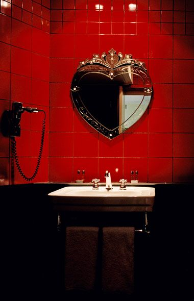 Home Away From Home  H tel du Petit Moulin77 best Red Bathrooms images on Pinterest   Red bathrooms  . Red Light In Bathroom Hotel. Home Design Ideas