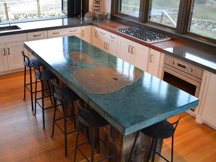 Concrete Island By Justin Hawkins Rhode Honorable Mention Can Be Made With Cheng Countertop Pro Formula In Tahoe